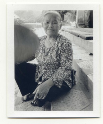 The Lady, Vietnam. Fuji Instant film by Florent Dudognon