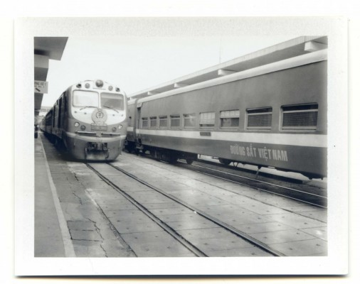 Saigon - Hanoi Train, Vietnam. Fuji Instant film by Florent Dudognon